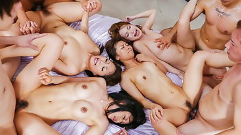 Asian Group Sex Japanese Creampie