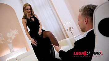 Ukrainian Blonde Blowjob Lingerie