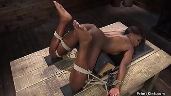Hogtied Interracial Rough Gagging