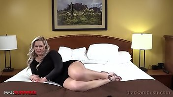 Backroom Blonde Interracial Creampie