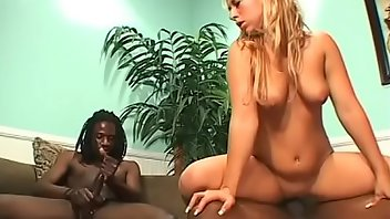 Peruvian Blonde Interracial Blowjob