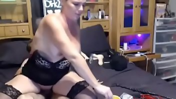 Cigarette Stockings MILF Blowjob Doggystyle