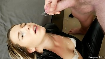 Leather Cumshot Facial Teen