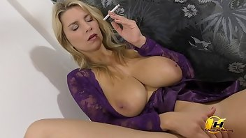 Cigarette Boobs European MILF