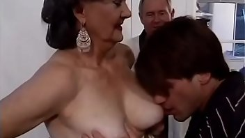 Saggy Tits Blowjob Brunette Mature